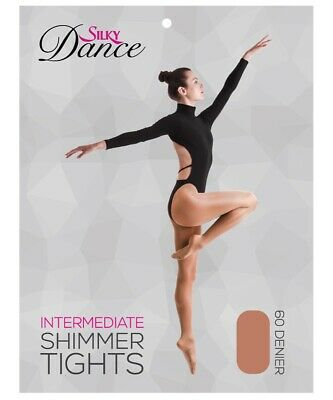 Silky Adult  Womens Full Foot Shimmer Dance Ballet Tights S M L XL