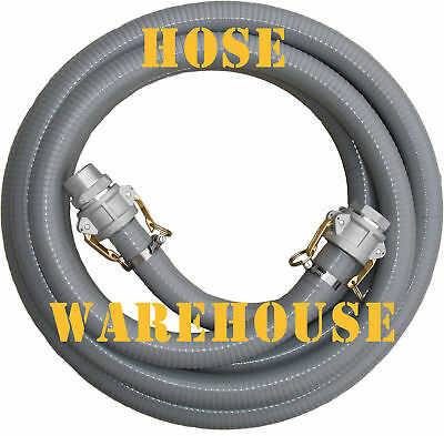 "Fire Suction Hose 1-1/2"" x 6mtr, tank connect, camlocks FREE FREIGHT"