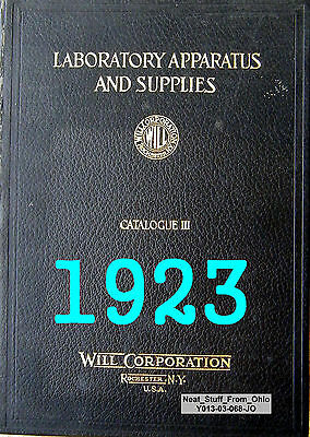 Will Corporation - Laboratory Apparatus & Supplies - Cat. Iii © 1923 - Very Rare