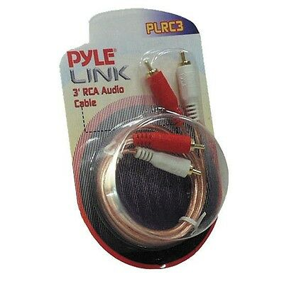 NEW Pyle PLRC3 3 ft Stereo RCA Cable