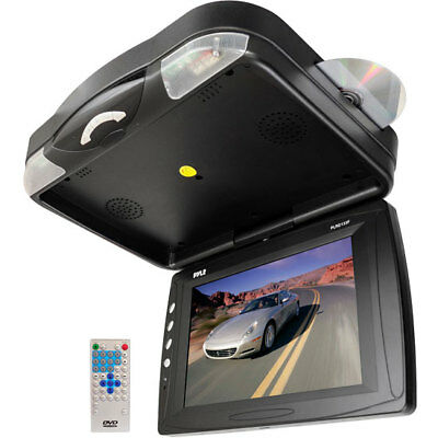 "NEW Pyle PLRD133F 12.1"" Roof Mount TFT LCD Monitor w/ Built-In DVD Player"