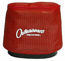NEW OUTERWEARS OVAL TAPERED AIR FILTER COVER,K&N RU-0981,1820,2450,3.5x2.5 TOP
