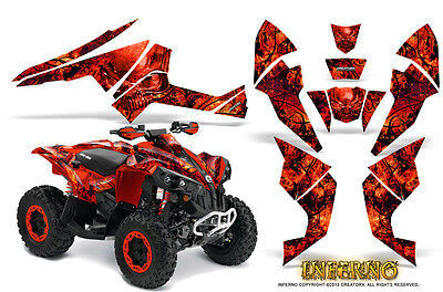 Can-Am Renegade Graphics Kit by CreatorX Decals Stickers INFERNO R