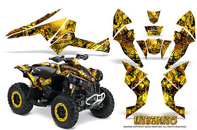 Can-Am Renegade Graphics Kit by CreatorX Decals Stickers INFERNO Y