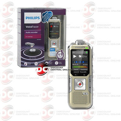 Brand New Philips Dvt8010 Voice Tracer 360° Audio Recorder (Gold/silver)
