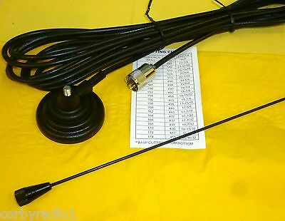 MARINE MAG MOUNT ANTENNA WITH 60mm BASE BLACK DELUXE - PL259 - AMATEUR/TAXI 10
