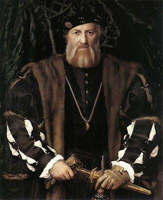 Oil painting Holbein Hans - Portrait of Charles de Solier Lord of Morette canvas