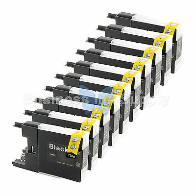 10 BLACK LC71 LC75 Ink Cartridge for Brother MFC-J5910DW MFC-J625DW MFC-J6510DW