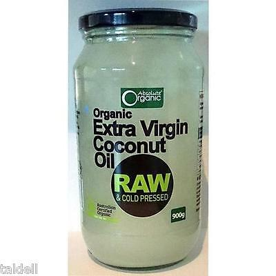 EXTRA VIRGIN ORGANIC COCONUT OIL 900g X 2 - RAW & COLD PRESSED LOWEST PRICE