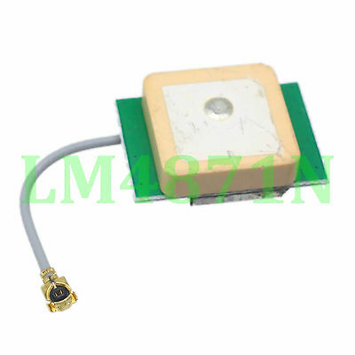 Compact Size Built-in Bare GPS Active Antenna 15*15*7mm LNA 9dB IPX U.fl cable