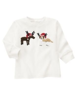 GYMBOREE RESCUE SQUAD IVORY w// DALMATIAN DOG L//S TEE 12 18 24 3T NWT