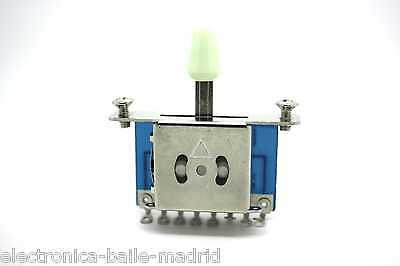 White 5 Way Switch Pickup Selector For Fender Stratocaster Telecaster Strato