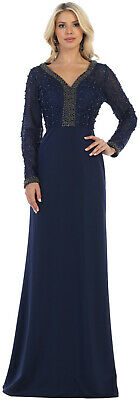 FORMAL PLUS SIZE SPECIAL OCCASION DRESS MOTHER of BRIDE GOWNS LONG SLEEVE JACKET