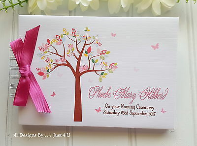 Personalised Baby Girl Christening*naming Day * Baptism * Guest Book *scrapbook