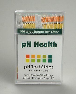 100 STRIPS ALKALINE pH DUAL TEST STRIPS KIT URINE & SALIVA pH FOR BODY LEVELS