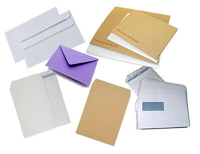 All In One Dl C4 C5 C6 Paper & Board Back Envelopes Book Mailers Brown White