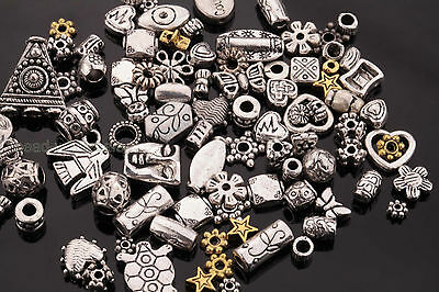 50g(about 90pcs) Mixed silver/golden Flower Caps/Spacer Beads For Jewelry