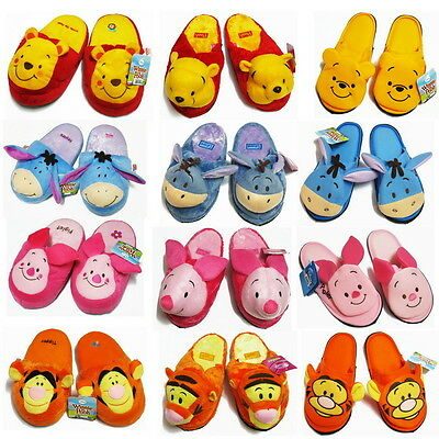 Women Men Adult Winnie the Pooh Eeyore Tigger Piglet Plush Slippers Shoes Disney
