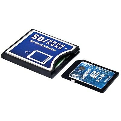 New SD/SDHC/SDXC To Compact Flash CF Type II Memory Card Adapter Converter