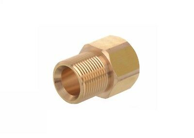 Pressure Washer Brass Male x Female M22 Couplings Karcher & Nilfisk Compatible