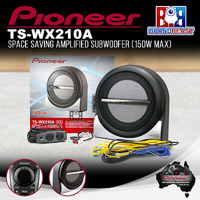 """Pioneer Ts-wx210a 8"""" Active Subwoofer & Amplifer W/ Remote Sub Amp Tswx210a"""