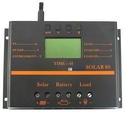 80A Solar80 Solar Regulator Charge Controller with LCD Display 5V Mobile Charger