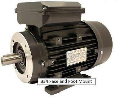 TEC Single Phase, 240V Electric Motor, B5 flange B14 face options. 0.37kw to 3kw