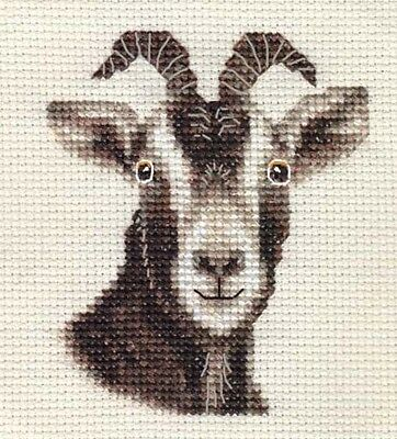 TOGGENBURG GOAT, KID, FARM  ~ Full counted cross stitch kit with all materials