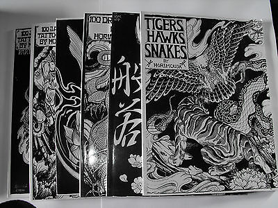 jap tattoo design flash books mix of koi dragons tigers hannya masks hawks other