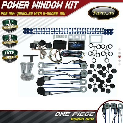 New Style Universal Power Window Kits fit any Vehicles with 4-Doors, 12V