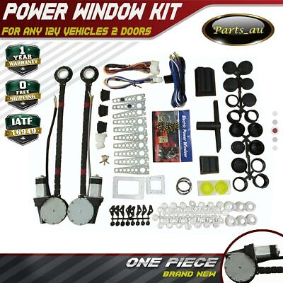 Universal Power Window Kits fit any Vehicles with 12V, 2 Doors Conversion Kit