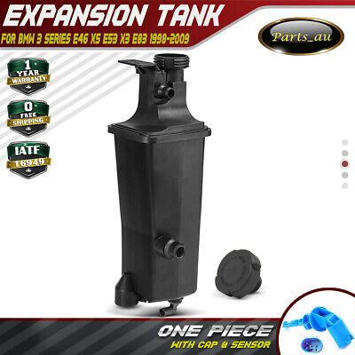 Radiator Coolant Expansion Tank for BMW E46 E53 E83 X3 X5  With Cap