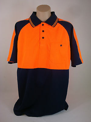 Hi Visibility Hi-Vis Safety Work wear Short Sleeve Polo Shirt Top Brand new