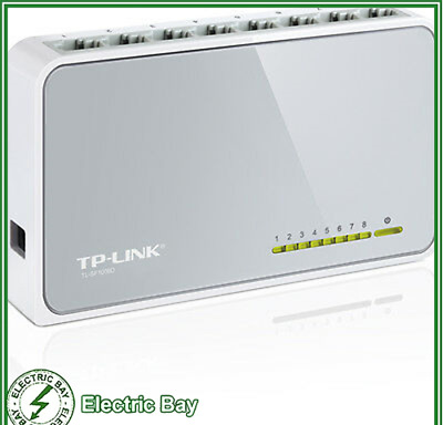 TP-Link 8-Port 10/100Mb Ethernet Desktop Switch Hubs Network Laptop TL-SF1008D