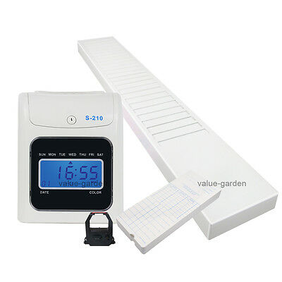 Electronic Employee Time Attendance Bundy Work Clock Recorder Payroll Business