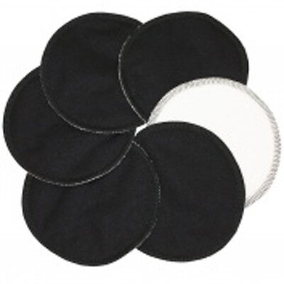 20 x Soft Bamboo Organic Reusable Breast Pads - Washable, Waterproof BLACK