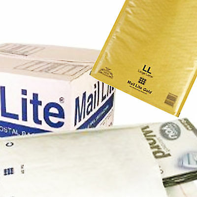 Padded Bags / Envelopes 'all Sizes' -Mail Lite By Sealed Air White And Gold