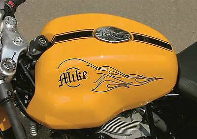 Personalised PETROL TANK Motorcycle Decals Stickers Graphics