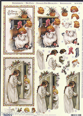 Precut Christmas Child  Paper Tole Dimensional Germany Card  Ornament Collage