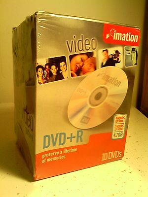 10-pack Imation DVD + R 4.7GB in presention case