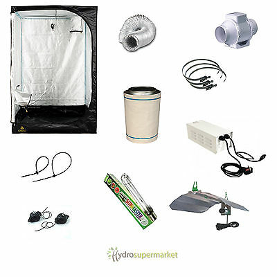 Grow Tent Kit 1.2M Sale Price! 600W, Carbon Filter, Ducting, Hydroponics, Light