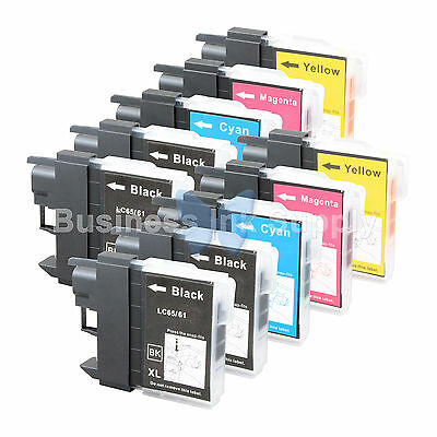 10 PACK LC61 NEW Ink Cartridge for Brother LC-61BK LC61C LC61M LC61Y HIGH YIELD
