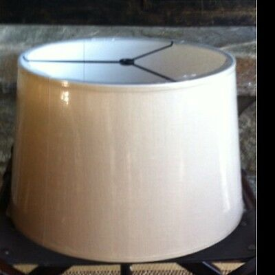Pottery Barn Linen Tapered Drum Lamp Shade Large Bisque New