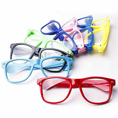 Clear Lens Wayfarer Nerd Geek Hipster Glasses Fancy Dress Novelty Party Fashion