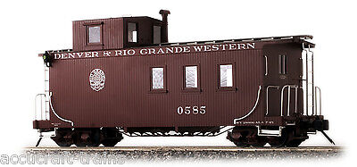 Accucraft D&RGW Long Caboose, Peaked Roof, Messingmodell in 1:20.3, Neuware