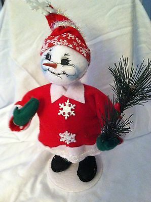 "ANNALEE 9"" SNOWFLAKE SNOWMAN NEW WITH TAG"