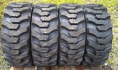 4 NEW Galaxy Muddy Buddy 10-16.5 DEEP TREAD Skid Steer Tires 10X16.5 heavy duty