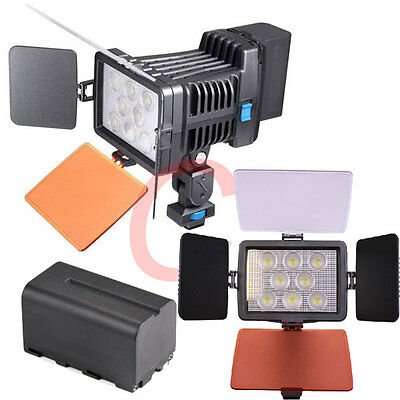 Portable LED5080 Camcorder Video Light for SONY Panasonic Canon +charger+battery