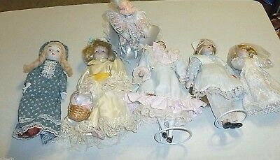 Dolls Ceramic 6 Count Assorted Doll Lot