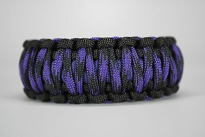 550 Paracord Survival Bracelet King Cobra Carolina Blue//Carolina Beach Camping